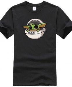 Baby Yoda Men T Shirts Cartoon Funny Casual Tops Summer New 2020 Hip Hop Star Wars 1