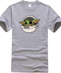 Baby Yoda Men T Shirts Cartoon Funny Casual Tops Summer New 2020 Hip Hop Star Wars 2