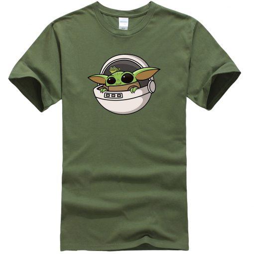 Baby Yoda Men T Shirts Cartoon Funny Casual Tops Summer New 2020 Hip Hop Star Wars 3