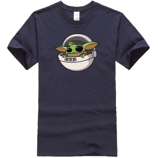Baby Yoda Men T Shirts Cartoon Funny Casual Tops Summer New 2020 Hip Hop Star Wars