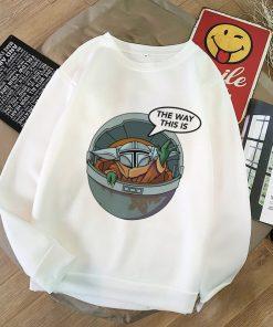 Baby Yoda Shirt Aesthetic Harajuku Hoodies Sweatshirt Pokemon Women Hoodies Women Kawaii Clothes Sweat Femme Thicken 3
