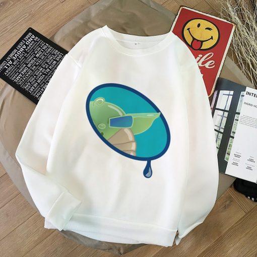 Baby Yoda Shirt Aesthetic Harajuku Hoodies Sweatshirt Pokemon Women Hoodies Women Kawaii Clothes Sweat Femme Thicken
