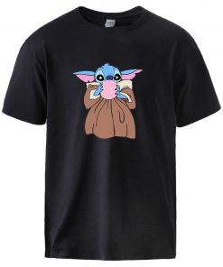 Baby Yoda Star Wars T shirts Mens Summer Short Sleeve Tops Tees 2020 Man Brand High