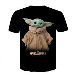 Baby Yoda The Mandalorian t shirt 3D printed Funny Tee Shirt Short Sleeve Star Wars men 1