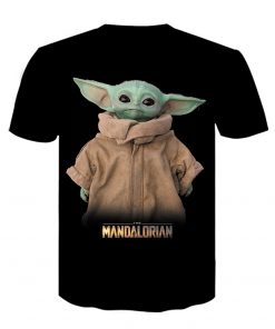Baby Yoda The Mandalorian t shirt 3D printed Funny Tee Shirt Short Sleeve Star Wars men 1
