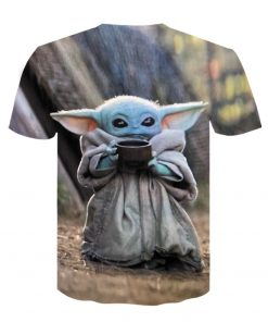 Baby Yoda The Mandalorian t shirt 3D printed Funny Tee Shirt Short Sleeve Star Wars men 3