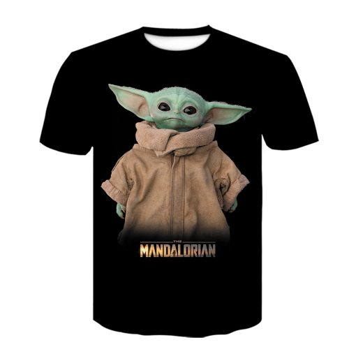 Baby Yoda The Mandalorian t shirt 3D printed Funny Tee Shirt Short Sleeve Star Wars men