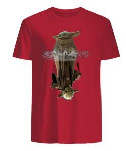 Baby Yoda Water Reflection Men s T Shirt 4