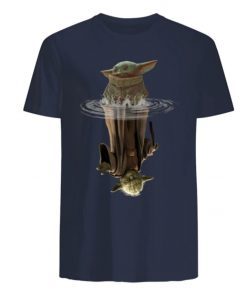 Baby Yoda Water Reflection Men s T Shirt 5