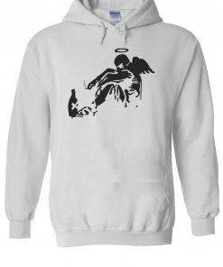 Banksy Drunken Angel Men Women Unisex TShirt T shirt Vest Baseball Hoodie 3064