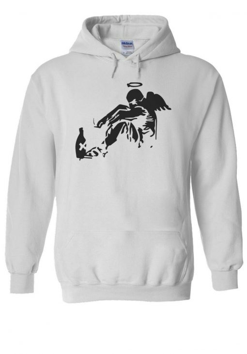 Banksy Drunken Angel Men Women Unisex TShirt T shirt Vest Baseball Hoodie 3064
