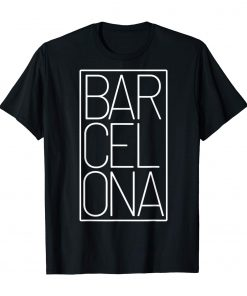 Barcelona t shirt Souvenir visiting Catalonia Spain Europe