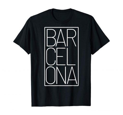 Barcelona t shirt Souvenir visiting Catalonia Spain Europe