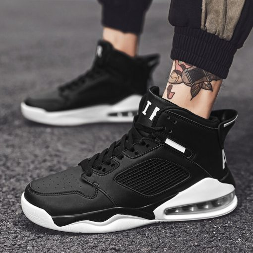 Basketball Shoes Men High top Sports Cushioning Basketball Athletic Mens Shoes Comfortable Breathable Retro Sneakers 1
