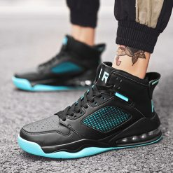 Basketball Shoes Men High top Sports Cushioning Basketball Athletic Mens Shoes Comfortable Breathable Retro Sneakers