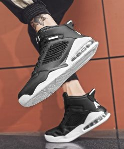 Basketball Shoes Men High top Sports Cushioning Basketball Athletic Mens Shoes Comfortable Breathable Retro Sneakers 4