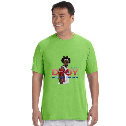 Ben Wallace DPOY Basketball Jersey Tee Shirts Detroit Pistons Superstar streetwear tshirt 2