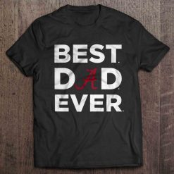Best Dad Ever Atlanta Print T Shirt Short Sleeve O Neck Braves Tshirts