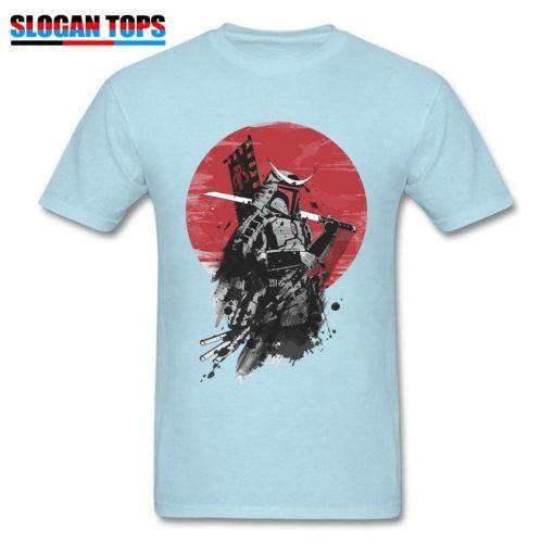 Boba Fett Samurai T shirt Cool Star Wars T Shirt Men Black Tops Vintage Japan Style 1