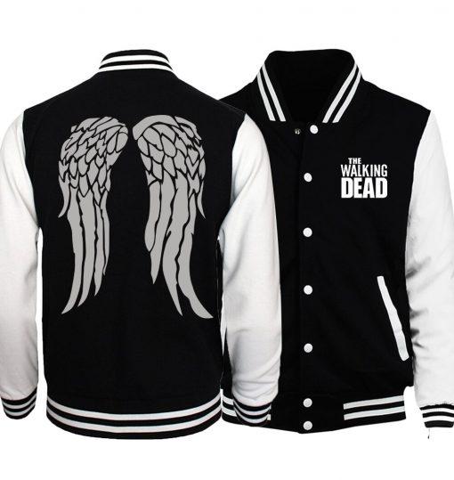 Bomber Jacket Streetwear The Walking Dead Baseball Men Jacket 2019 Hot Spring Jackets Hoodies Coat Fashion 1