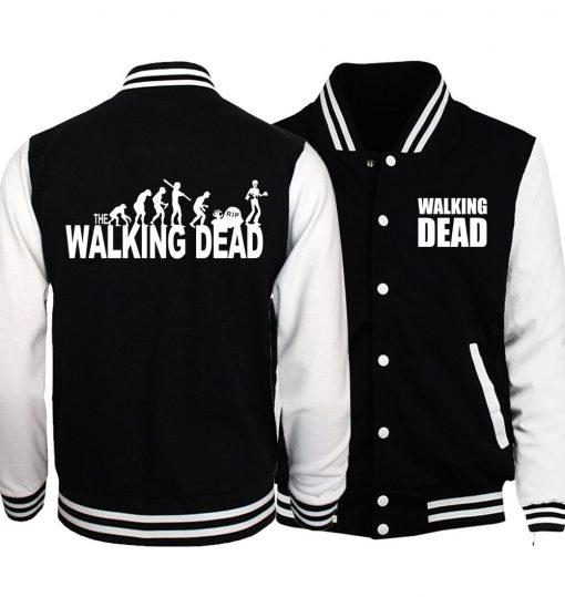 Bomber Jacket Streetwear The Walking Dead Baseball Men Jacket 2019 Hot Spring Jackets Hoodies Coat Fashion 2