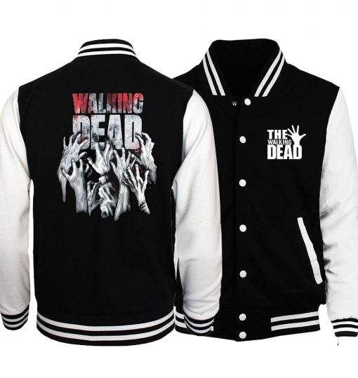 Bomber Jacket Streetwear The Walking Dead Baseball Men Jacket 2019 Hot Spring Jackets Hoodies Coat Fashion