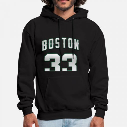 Boston 33 White Number Hoodie Legend 33 Legend 33 Player Number Sports City Bird Players