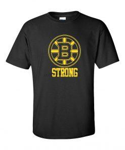 Boston B Strong Marathon Tribute Hockey Bruins Mens Tee Shirt