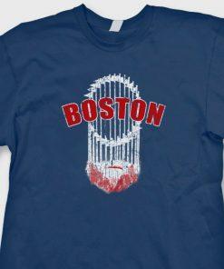 Boston Beard Trophy Red Sox T Shirt World Series Champs Tee Shirt