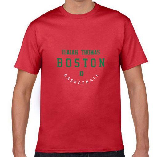 Boston Celtics Number 0 Isaiah Thomas 2019 best selling New men s COTTON Short Shirt for 1