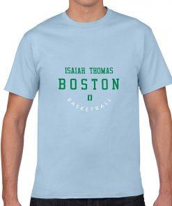 Boston Celtics Number 0 Isaiah Thomas 2019 best selling New men s COTTON Short Shirt for 2