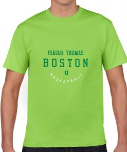 Boston Celtics Number 0 Isaiah Thomas 2019 best selling New men s COTTON Short Shirt for