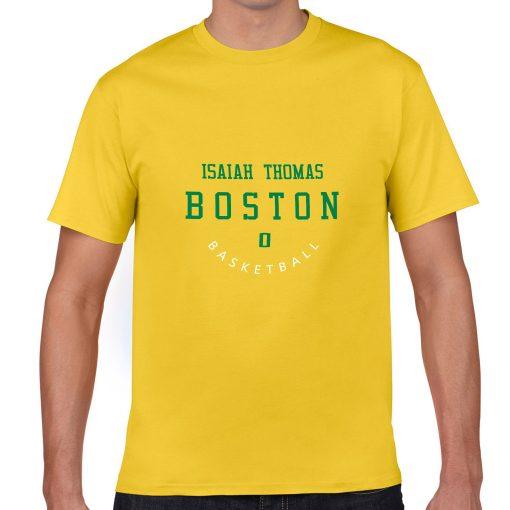 Boston Celtics Number 0 Isaiah Thomas 2019 best selling New men s COTTON Short Shirt for 3