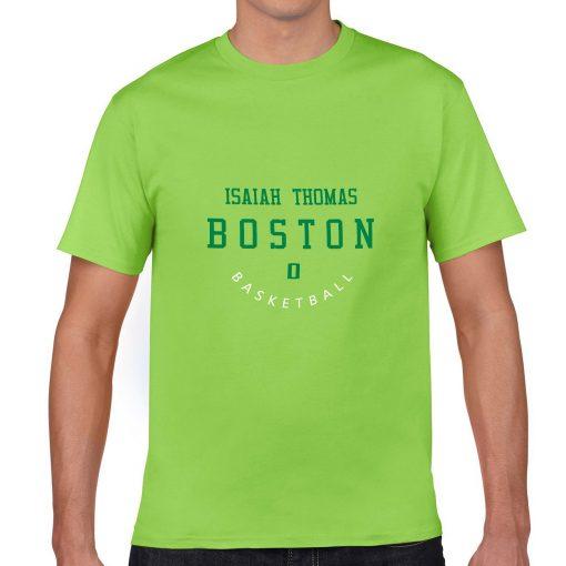 Boston Celtics Number 0 Isaiah Thomas 2019 best selling New men s COTTON Short Shirt for