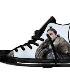 Brand Game Of Thrones Shoes The Film Funny Sneakers 3d Plimsolls High top sneakers Men Hip 2