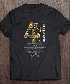 Brett Favre Green Streetwear Harajuku 100 Cotton Bay Men S Tshirt Packers No 4 Jersey Retirement