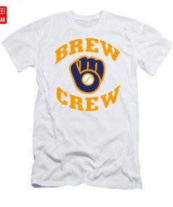 Brew Crew T Shirt milwaukee brew crew brewers retro vintage baseball team wisconsin national 1