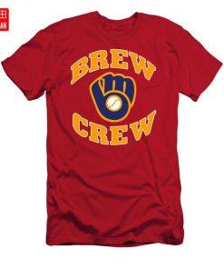 Brew Crew T Shirt milwaukee brew crew brewers retro vintage baseball team wisconsin national