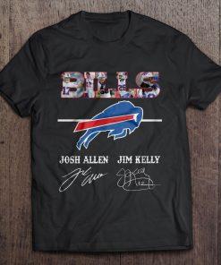 Buffalo Print T Shirt Short Sleeve O Neck Bills Josh Allen Jim Tshirts