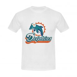 Burrows Custom Dolphins Miami Men S Cotton Slim Fit T Shirt White New Brand Clothing T