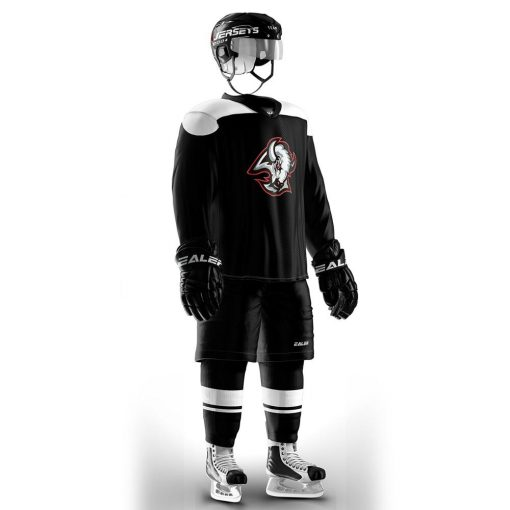 COLDOUTDOOR Vintage Ice Hockey Training Jerseys Set Print buffalo Logo Sport Cheap high quality H6100 8 1