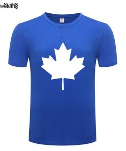 Canada or Toronto Maple Leaf Printed Men T Shirt Fashion Summer T Shirts Men Cotton Short 1
