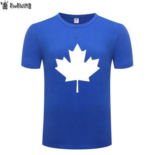 Canada or Toronto Maple Leaf Printed Men T Shirt Fashion Summer T Shirts Men Cotton Short 1