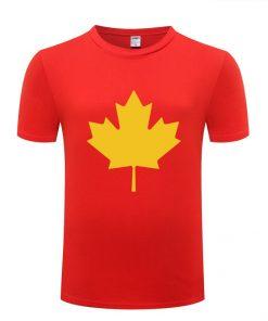Canada or Toronto Maple Leaf Printed Men T Shirt Fashion Summer T Shirts Men Cotton Short 2