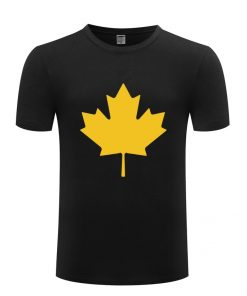Canada or Toronto Maple Leaf Printed Men T Shirt Fashion Summer T Shirts Men Cotton Short