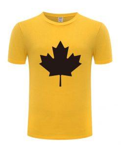 Canada or Toronto Maple Leaf Printed Men T Shirt Fashion Summer T Shirts Men Cotton Short 5