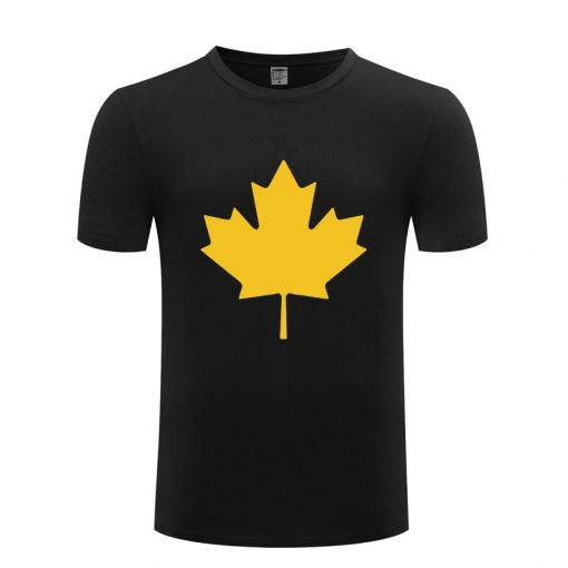 Canada or Toronto Maple Leaf Printed Men T Shirt Fashion Summer T Shirts Men Cotton Short