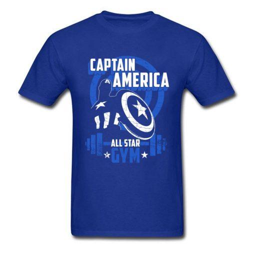 Captain America T Shirt Blue Navy Aesthetic Brands Fashion Novelty Tshirt Men s New Style Tees 1