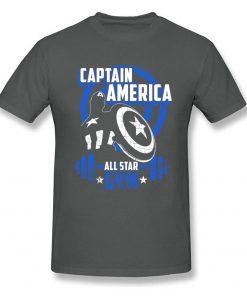 Captain America T Shirt Blue Navy Aesthetic Brands Fashion Novelty Tshirt Men s New Style Tees 2