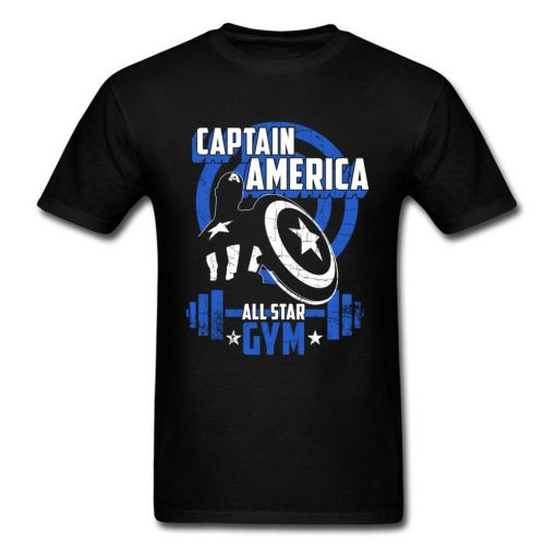 Captain America T Shirt Blue Navy Aesthetic Brands Fashion Novelty Tshirt Men s New Style Tees